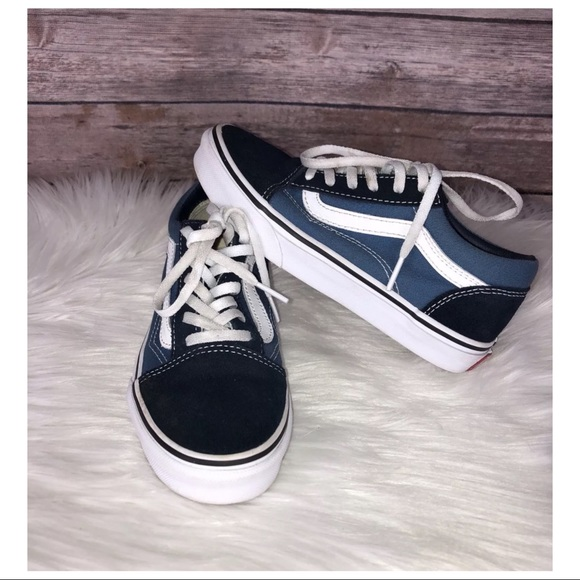 c9d65df751 BOYS VANS SZ 2 OLD SKOOL SKATE BLUE Sneakers